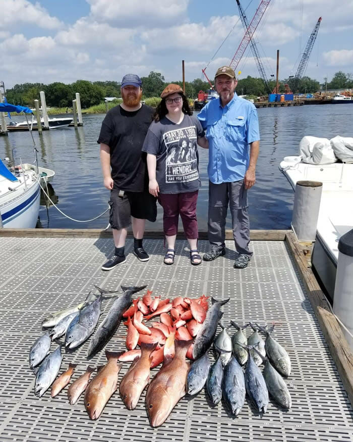Variety of fish caught in Pensacola