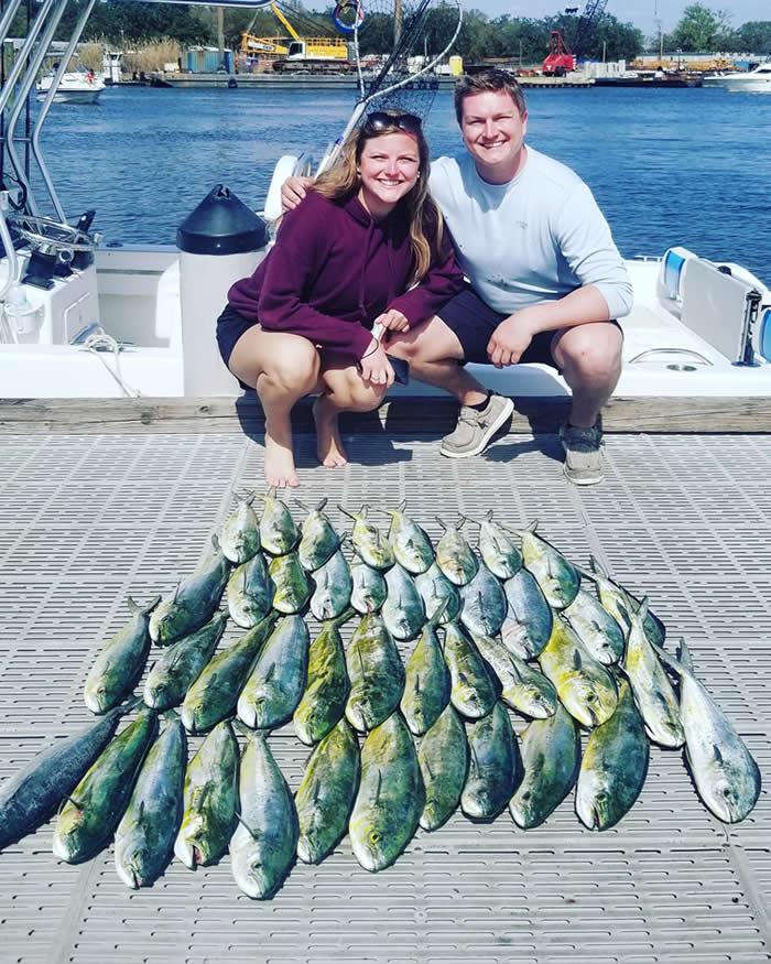 Offshore Mahi Catch in Pensacola